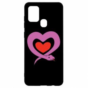 Etui na Samsung A21s Cute snake heart