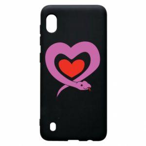 Etui na Samsung A10 Cute snake heart