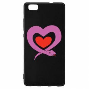Etui na Huawei P 8 Lite Cute snake heart