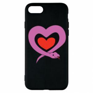 Etui na iPhone SE 2020 Cute snake heart