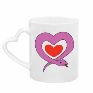 Kubek z uchwytem w kształcie serca Cute snake heart