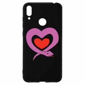 Etui na Huawei Y7 2019 Cute snake heart