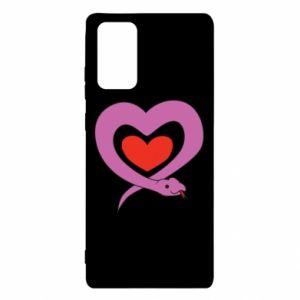 Etui na Samsung Note 20 Cute snake heart