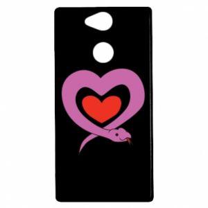 Etui na Sony Xperia XA2 Cute snake heart