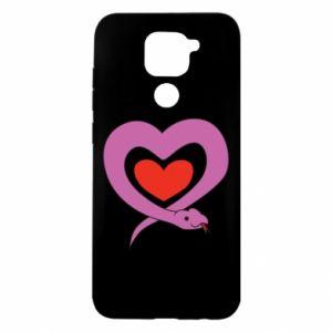 Etui na Xiaomi Redmi Note 9/Redmi 10X Cute snake heart
