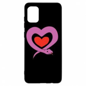 Etui na Samsung A31 Cute snake heart