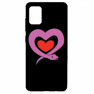 Etui na Samsung A51 Cute snake heart