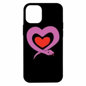 Etui na iPhone 12 Mini Cute snake heart