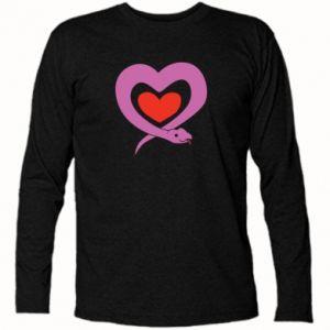 Long Sleeve T-shirt Cute snake heart - PrintSalon