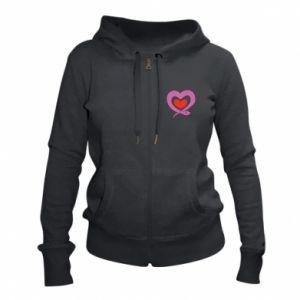 Women's zip up hoodies Cute snake heart - PrintSalon