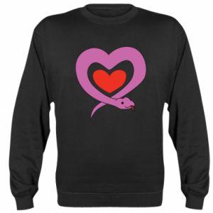 Sweatshirt Cute snake heart - PrintSalon