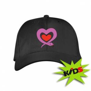 Kids' cap Cute snake heart - PrintSalon