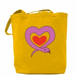 Bag Cute snake heart - PrintSalon