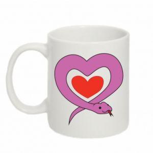 Mug 330ml Cute snake heart - PrintSalon