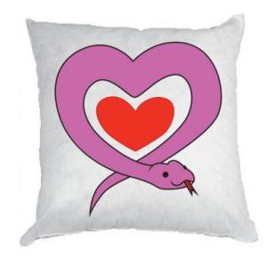 Pillow Cute snake heart - PrintSalon