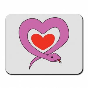 Mouse pad Cute snake heart