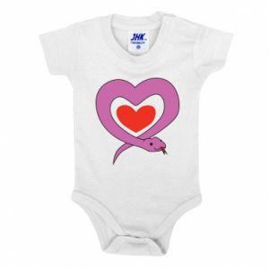 Baby bodysuit Cute snake heart - PrintSalon