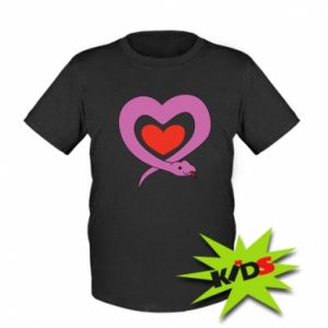 Kids T-shirt Cute snake heart