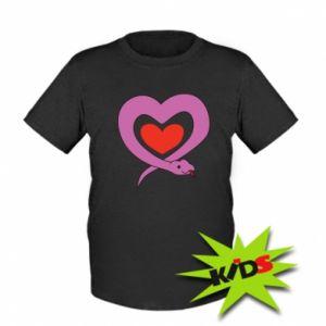 Dziecięcy T-shirt Cute snake heart