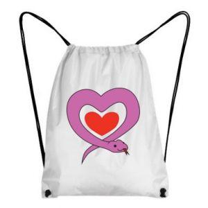 Backpack-bag Cute snake heart - PrintSalon