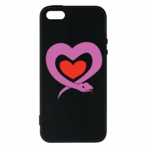 Phone case for iPhone 5/5S/SE Cute snake heart