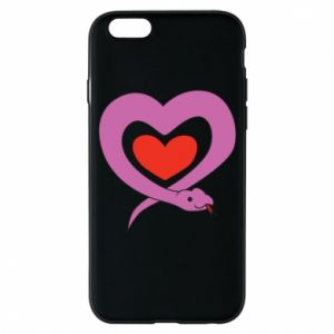 Phone case for iPhone 6/6S Cute snake heart