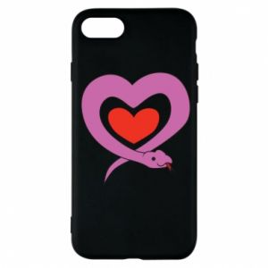 Phone case for iPhone 7 Cute snake heart