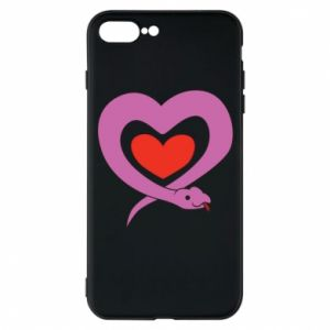 Phone case for iPhone 7 Plus Cute snake heart - PrintSalon