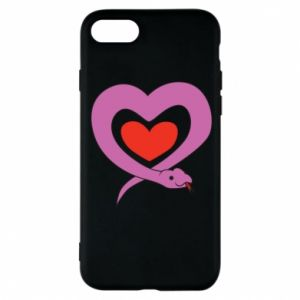 Phone case for iPhone 8 Cute snake heart