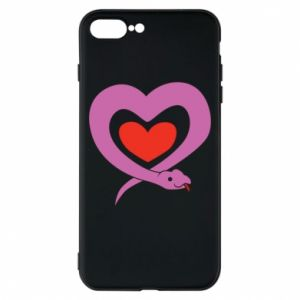 Phone case for iPhone 8 Plus Cute snake heart - PrintSalon
