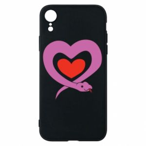 Phone case for iPhone XR Cute snake heart