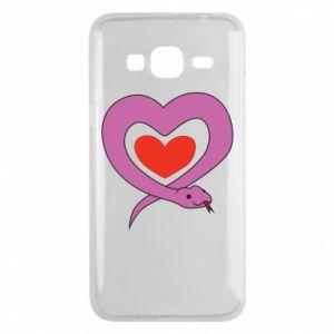 Etui na Samsung J3 2016 Cute snake heart