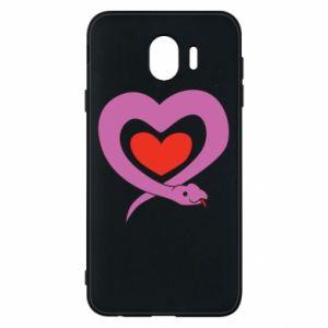 Etui na Samsung J4 Cute snake heart