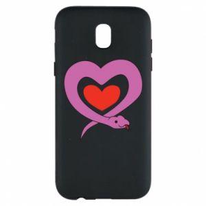 Etui na Samsung J5 2017 Cute snake heart