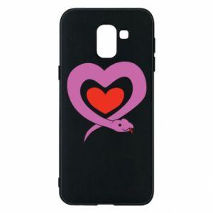Etui na Samsung J6 Cute snake heart