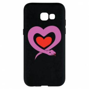 Phone case for Samsung A5 2017 Cute snake heart