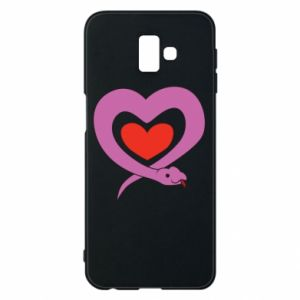 Phone case for Samsung J6 Plus 2018 Cute snake heart