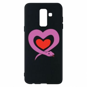 Phone case for Samsung A6+ 2018 Cute snake heart