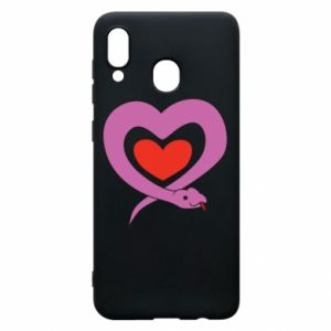 Phone case for Samsung A20 Cute snake heart