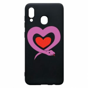 Phone case for Samsung A30 Cute snake heart
