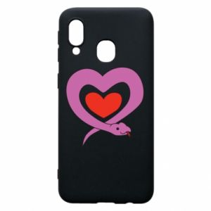 Phone case for Samsung A40 Cute snake heart