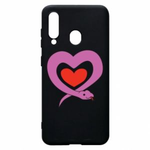 Phone case for Samsung A60 Cute snake heart