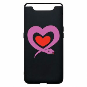 Phone case for Samsung A80 Cute snake heart