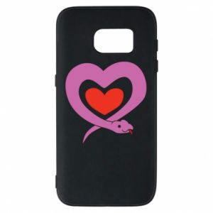 Phone case for Samsung S7 Cute snake heart