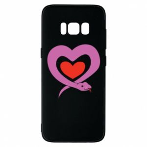 Phone case for Samsung S8 Cute snake heart