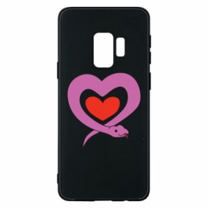 Phone case for Samsung S9 Cute snake heart