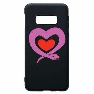 Etui na Samsung S10e Cute snake heart