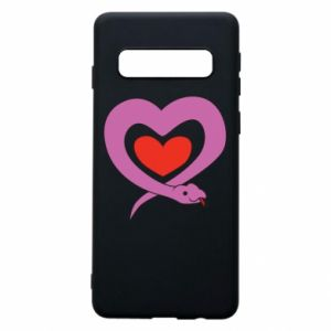 Phone case for Samsung S10 Cute snake heart