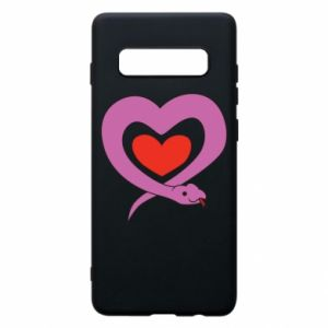 Phone case for Samsung S10+ Cute snake heart