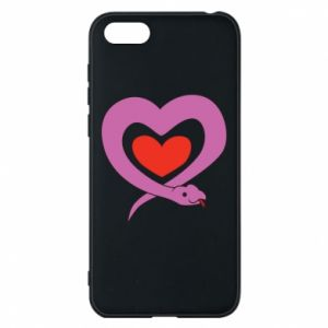 Phone case for Huawei Y5 2018 Cute snake heart
